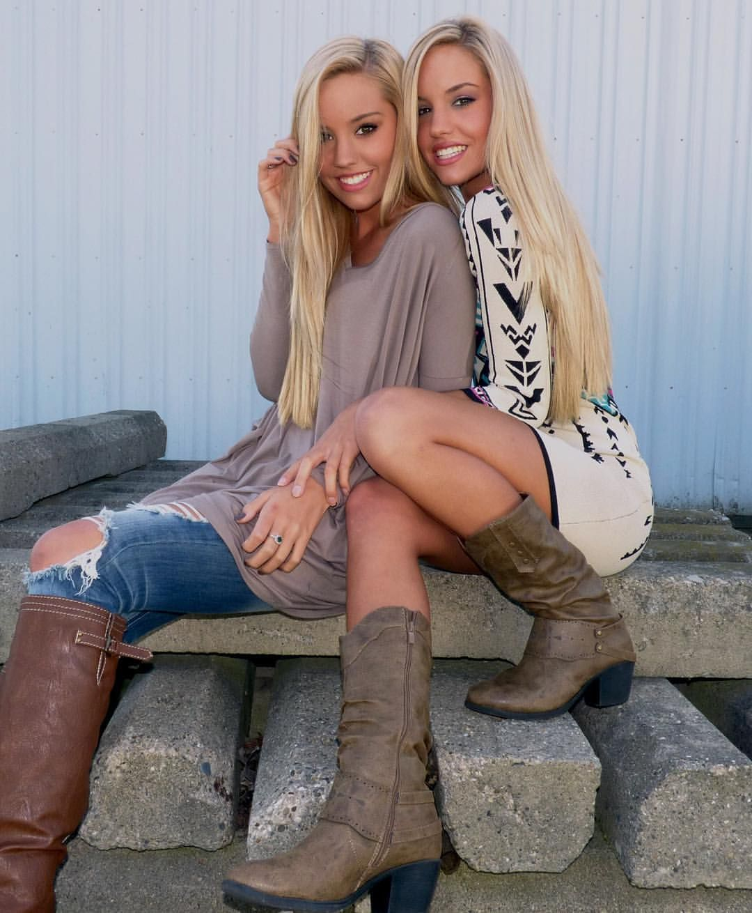 """Alex Steffes on Instagram: """"Love my beautiful twin sister @samanthasteffes & these @shopmvb outfits! """""""