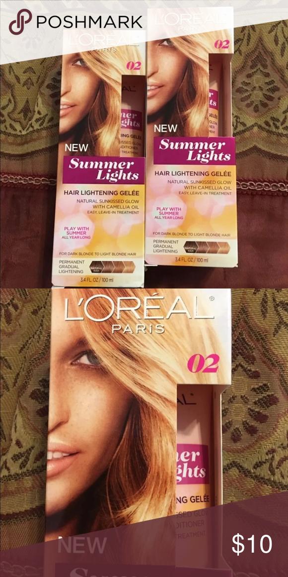 Hair Dye L Oreal Hair Dye L Oreal Summer Lights 2 Boxes L Oreal Accessories Dyed Hair Box Hair Dye How To Lighten Hair
