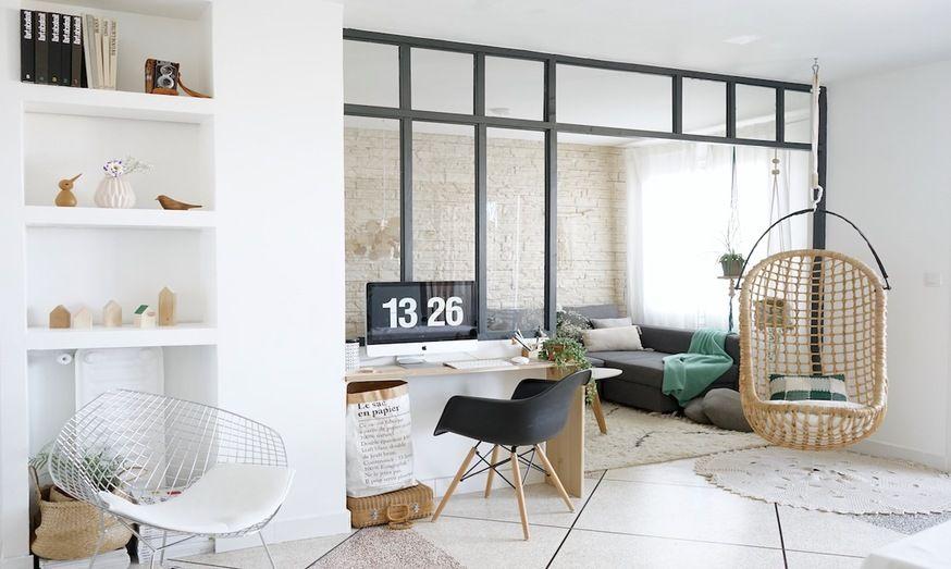 TRAVAUX - Pour créer un coin bureau lumineux et élégant, Juliana et