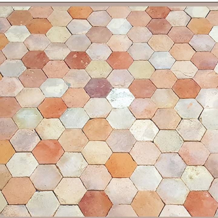 Hexagon Tiles Add A Beautiful Touch To The Decor Reclaimed Terracotta Interior Design Designer Home