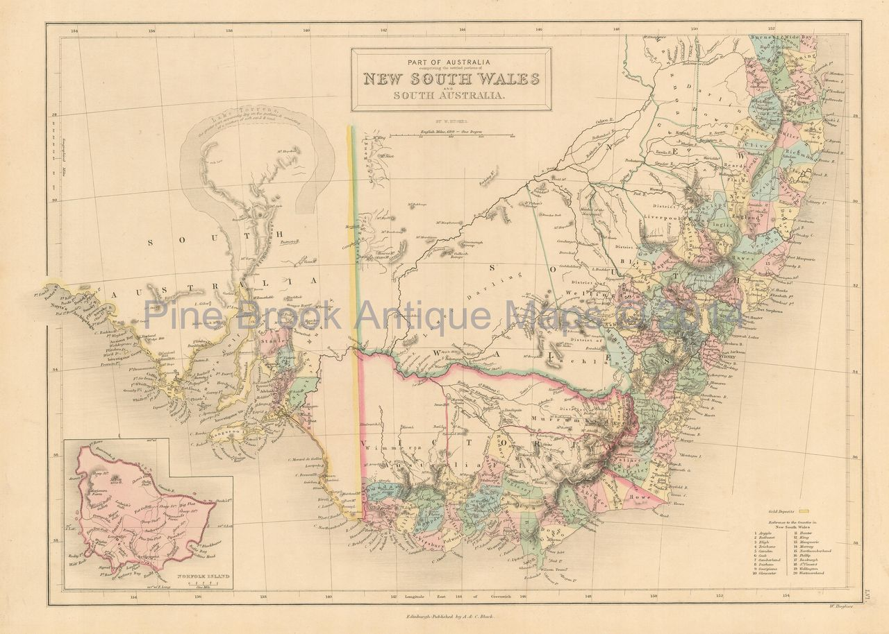 Pine Brook Antique Maps New South