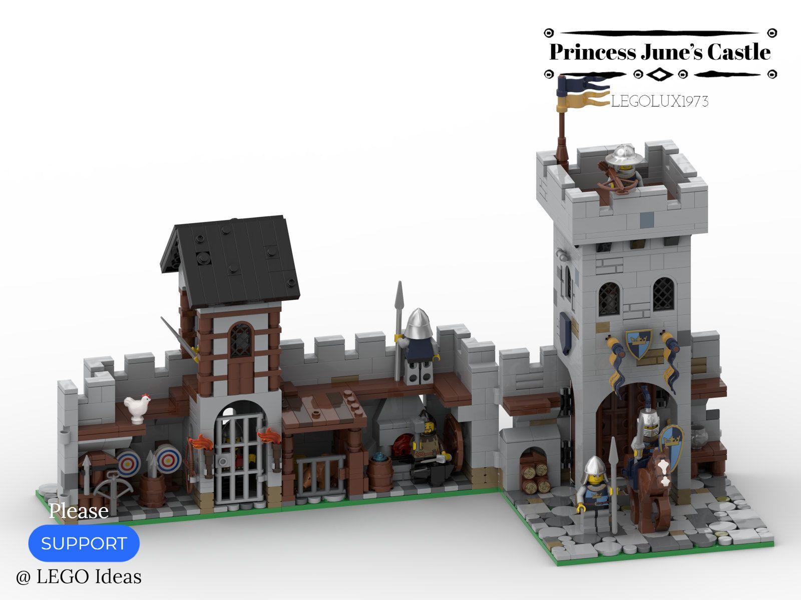 Princess June's Castle - my LEGO Ideas Project 07   Lego, Lego design, Lego  castle