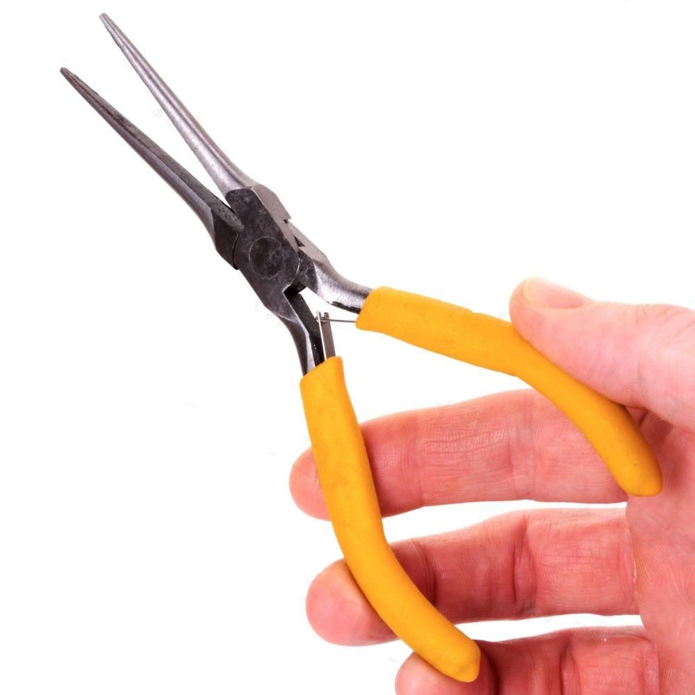 Mini Needle Nose Pliers Long Reach Fine Watch Jewellery Wire Repair ...