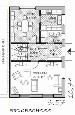 Doppelhaus grundriss eingang seitlich Doppelhaus