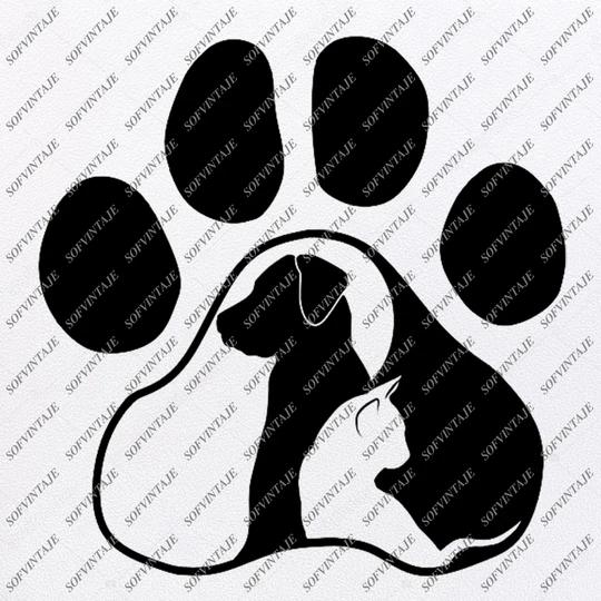 Download Dog Cat Love Svg File - Dog Original Svg Design -Animals ...