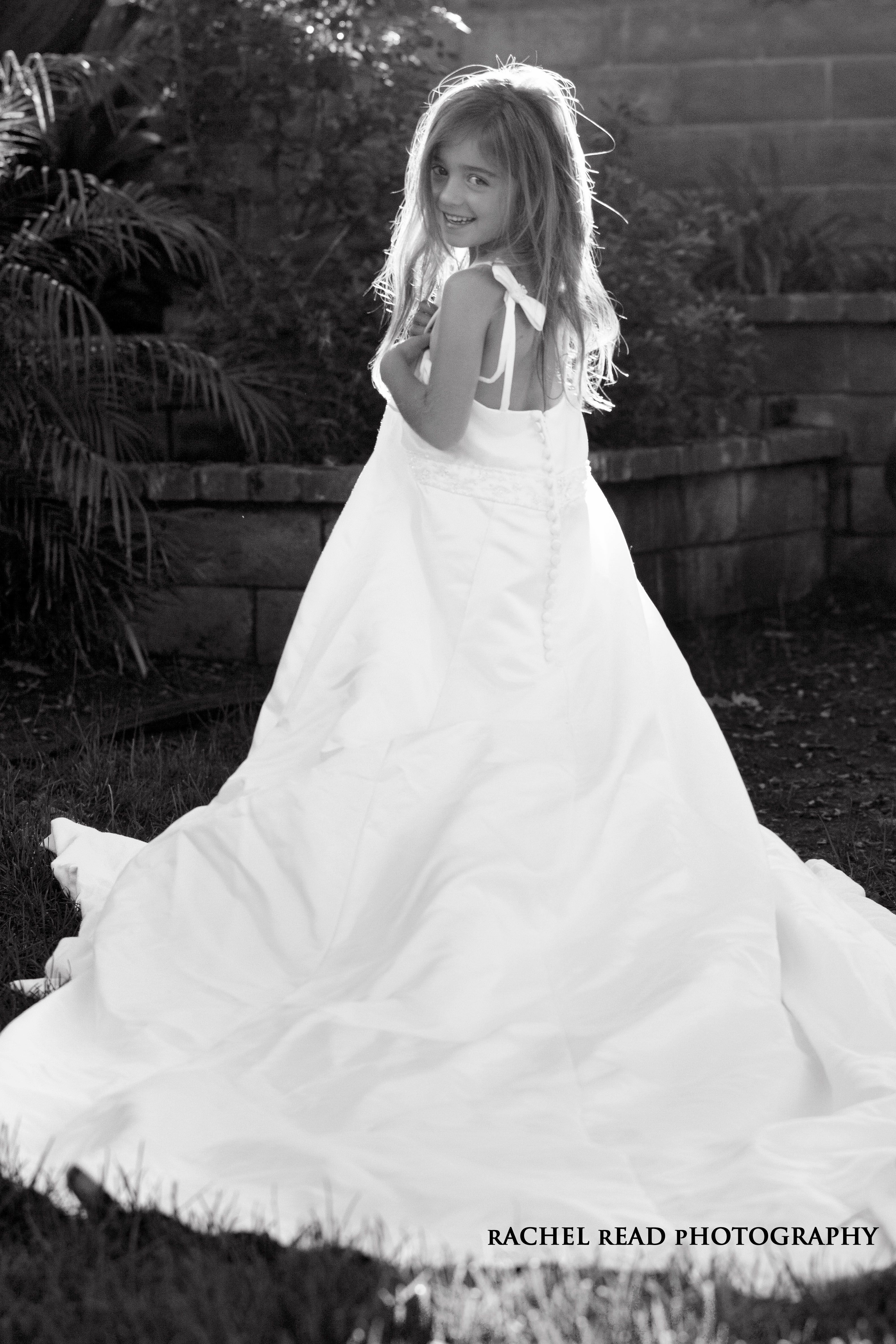 your daughter wearing your wedding dress www rachelreadphotography