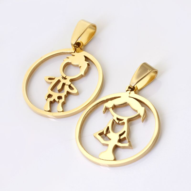 Wholesale\\ Retail! New Design 316L Stainless Steel Gold Plated Boy ...