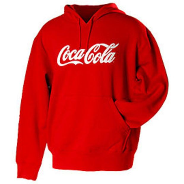 Coca-Cola Bottle The Real Thing Womens Hooded Sweatshirt