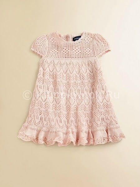 Вязание спицами дети платье