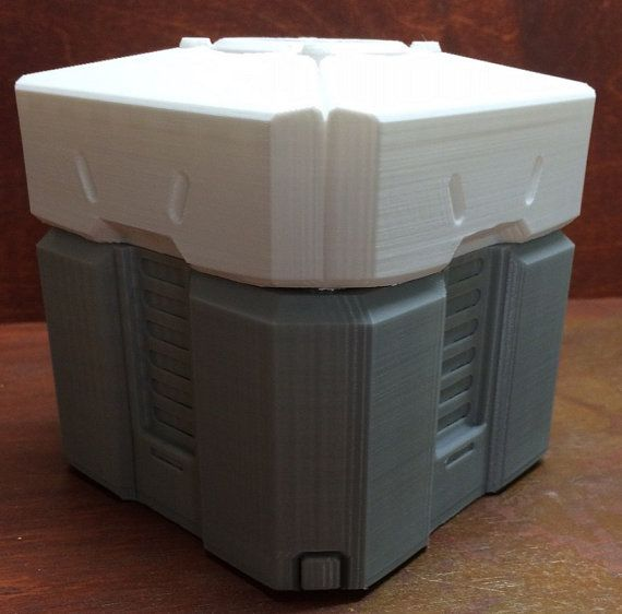 A replica of an Overwatch Loot Crate. The lid snaps closed. Medium ...