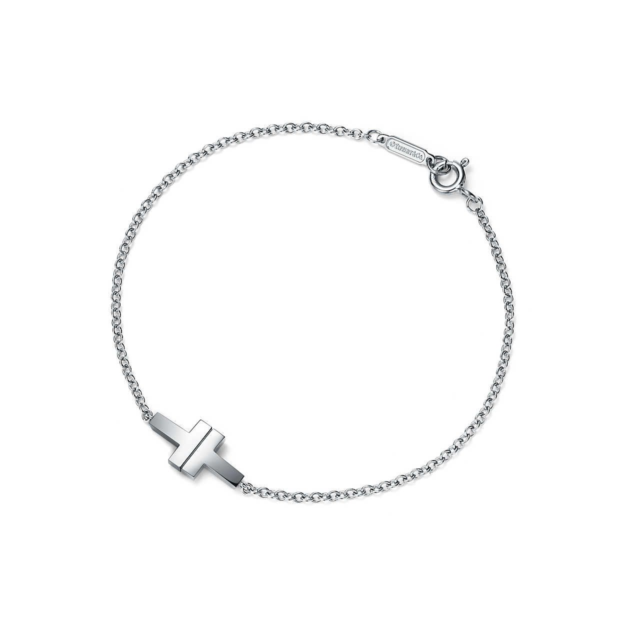 Tiffany T Two Single Chain Bracelet In Sterling Silver Medium Tiffany Co Tiffany And Co Bracelet Tiffany T Silver Bracelets For Women