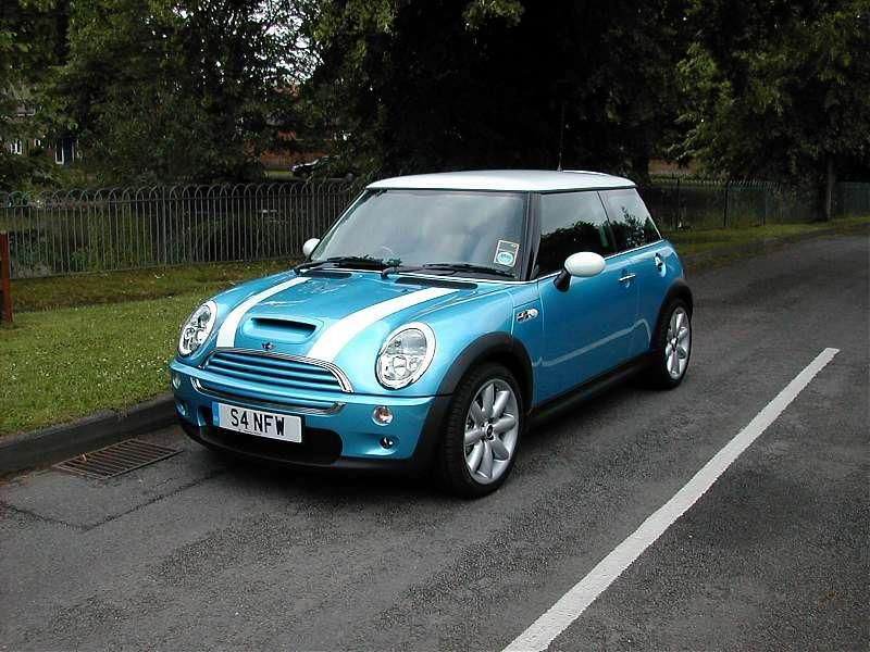2002 R53 Mini Cooper S Electric Blue White