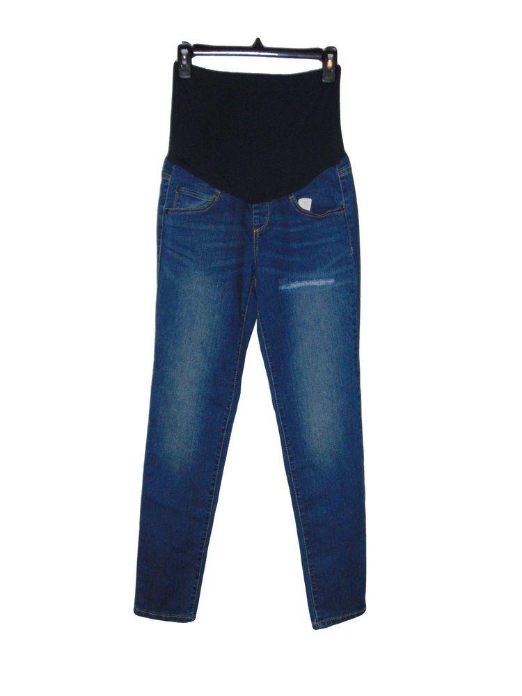 d2607102d893c A Glow Skinny Maternity Jeans Size 4 Big Bump Band Nwt #AGLOW ...