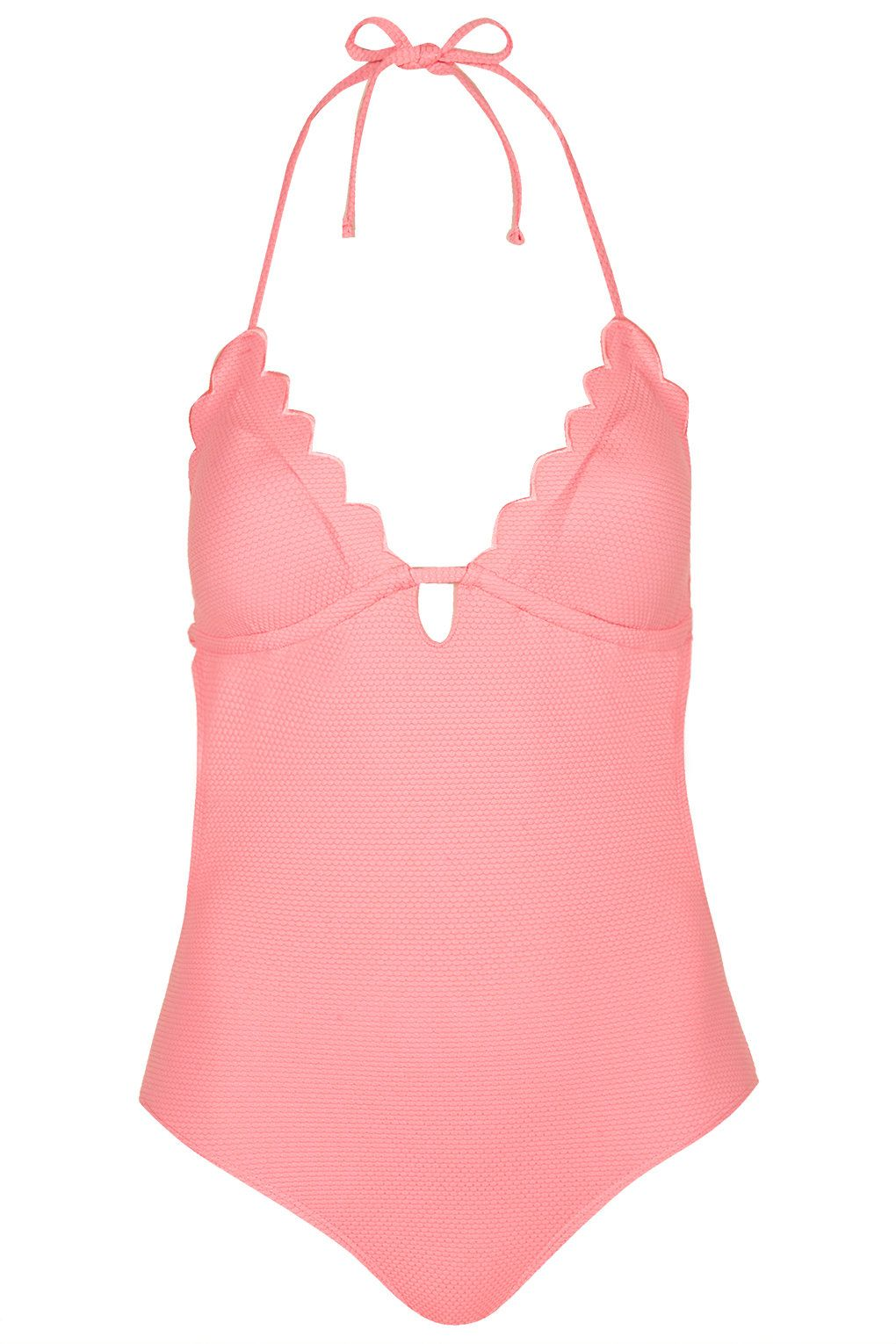 3affc5230b4 PETITE Pink Scallop Swimsuit - Topshop | Summer | Swimsuits ...