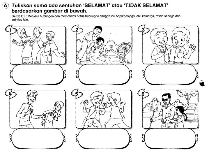 Soalan Pendidikan Jasmani & Kesihatan Tahun 1 Ujian 1