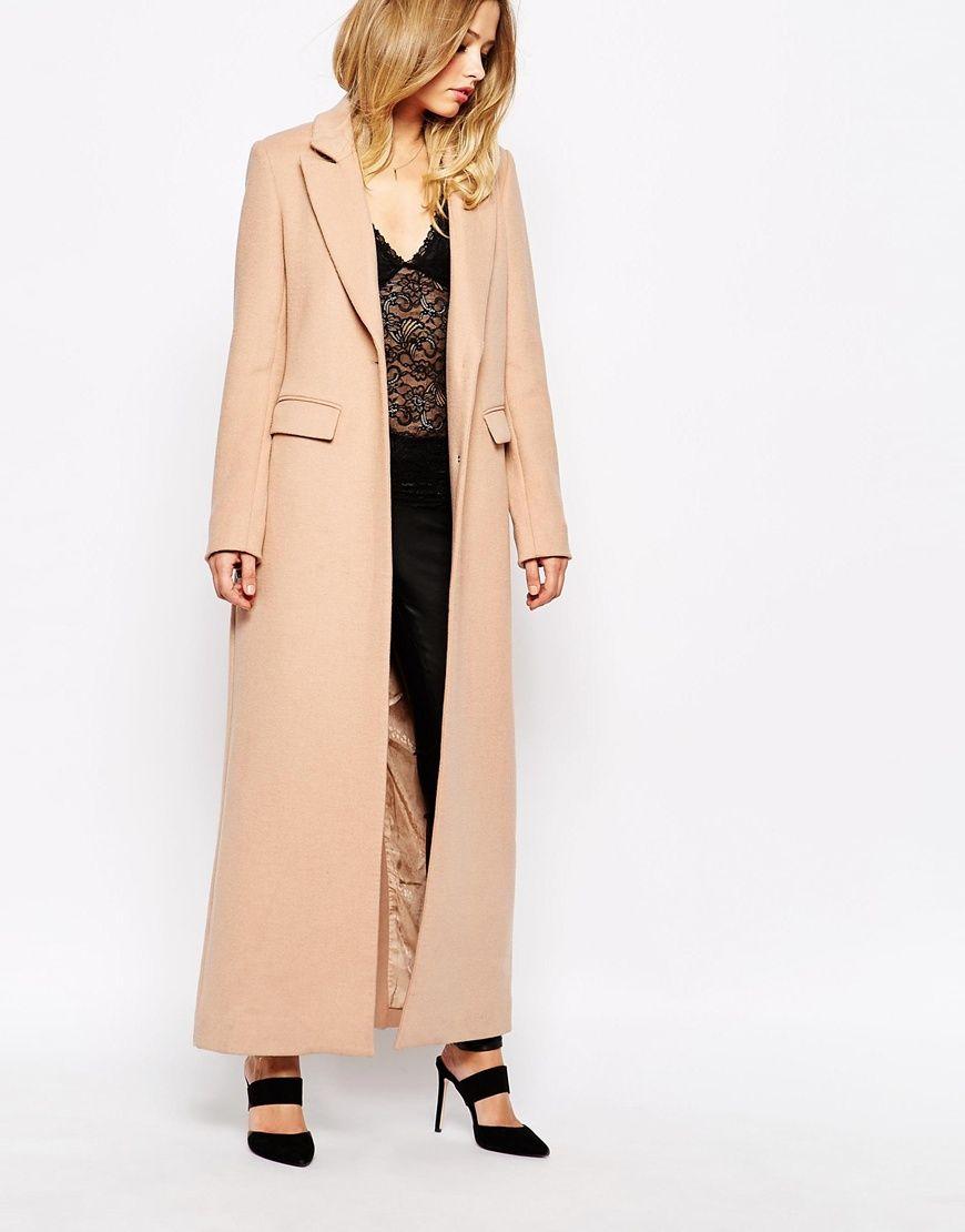 e9f095a49a Supertrash Oxford Maxi Coat in Camel   Minimalist Style   Maxi coat ...