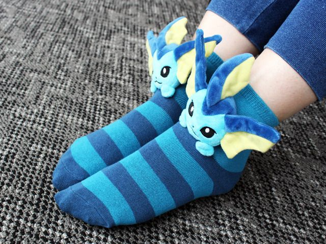 The Pokemon Center just released a series of Plush Eeveelution Socks -