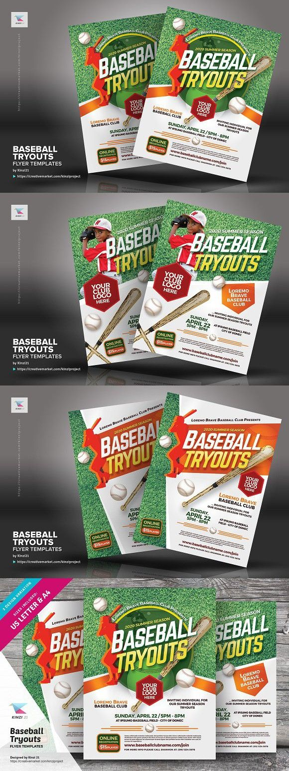 baseball tryouts flyer templates flyer template template and typo