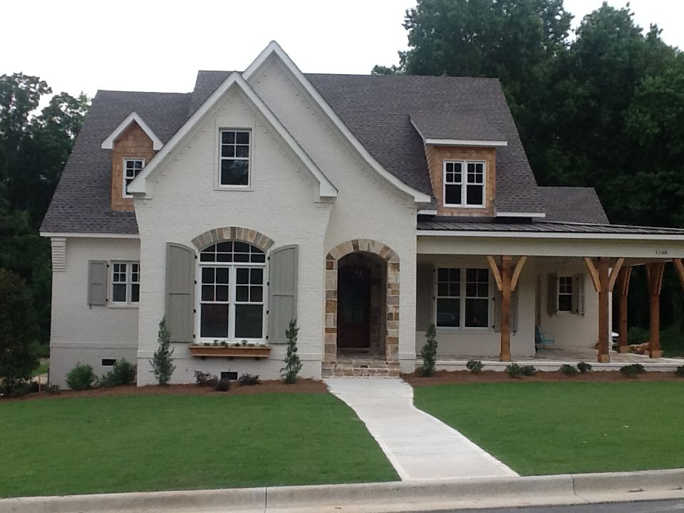 Love this style of elberton way without the extended for French farmhouse house plans
