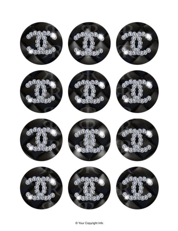 Chanel Cupcake ToppersDigital Printable File by rockreations, $6.00