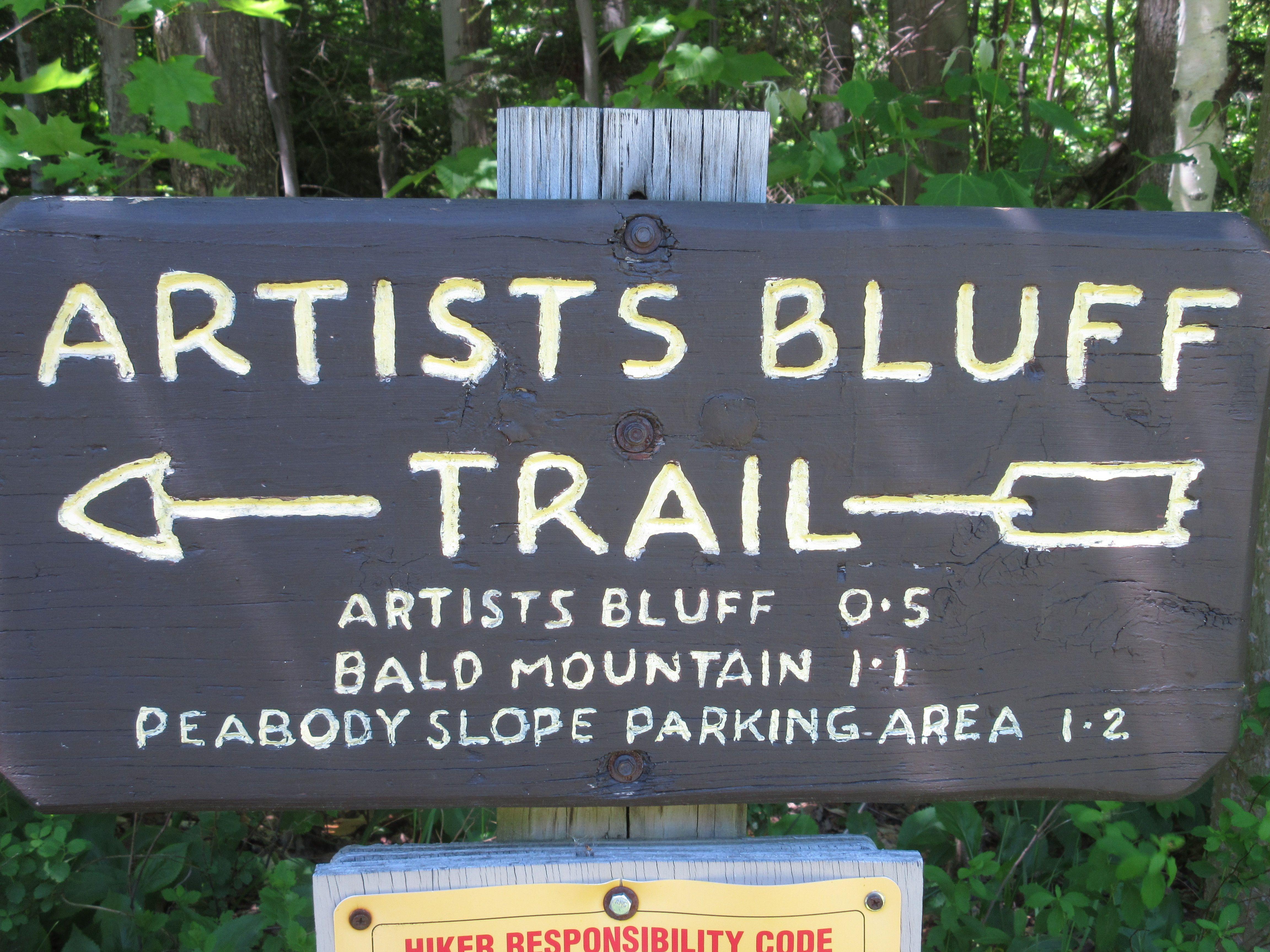 Artists Bluff Trail, Franconia Notch, Franconia, New