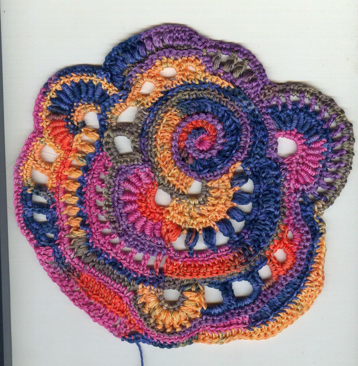 freeform crochet | Quelques bullions grâce au super tutoriel de ...