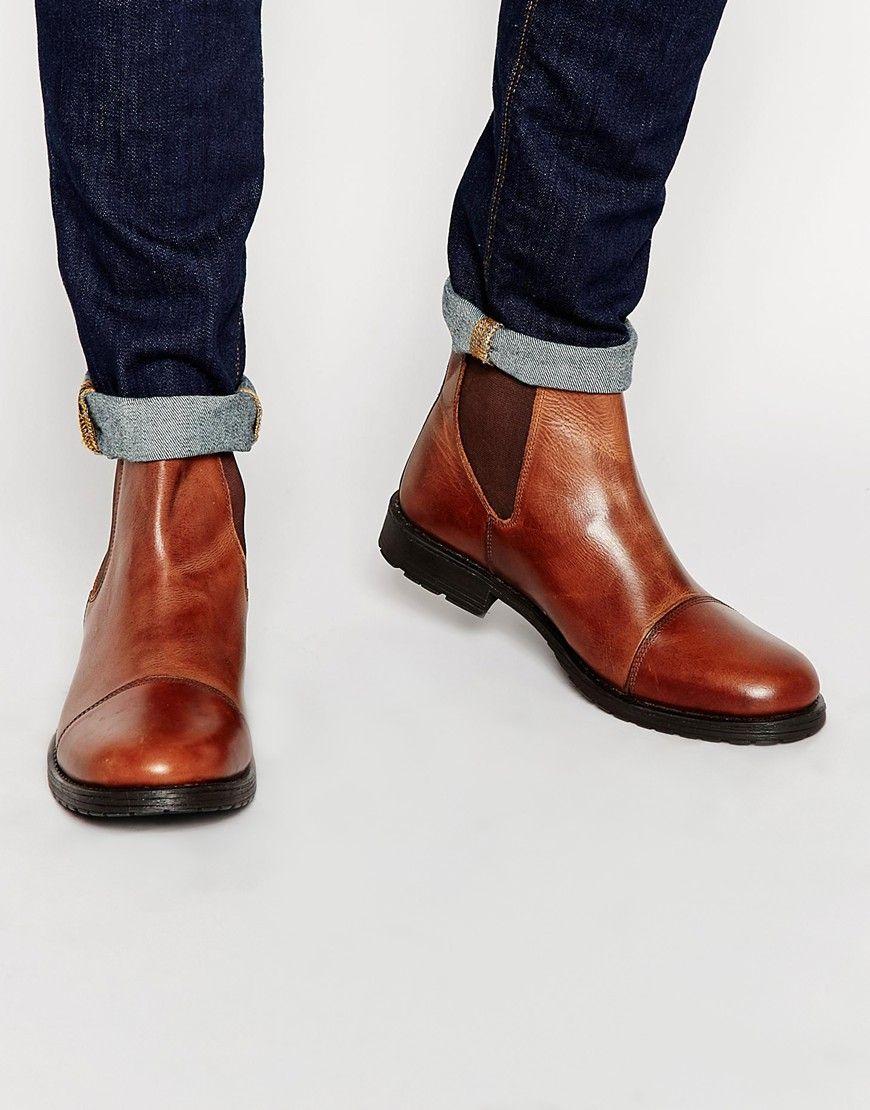 Super shop discount Jack Jones Radnor Leather Chelsea Boots Under Discount