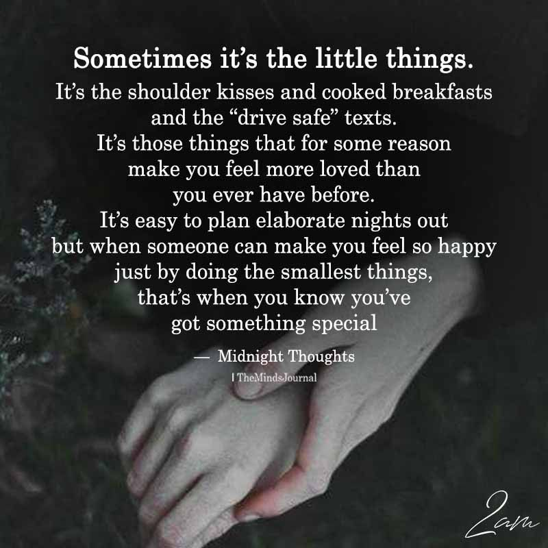 Sometimes It\'s The Little Things | Little things quotes ...