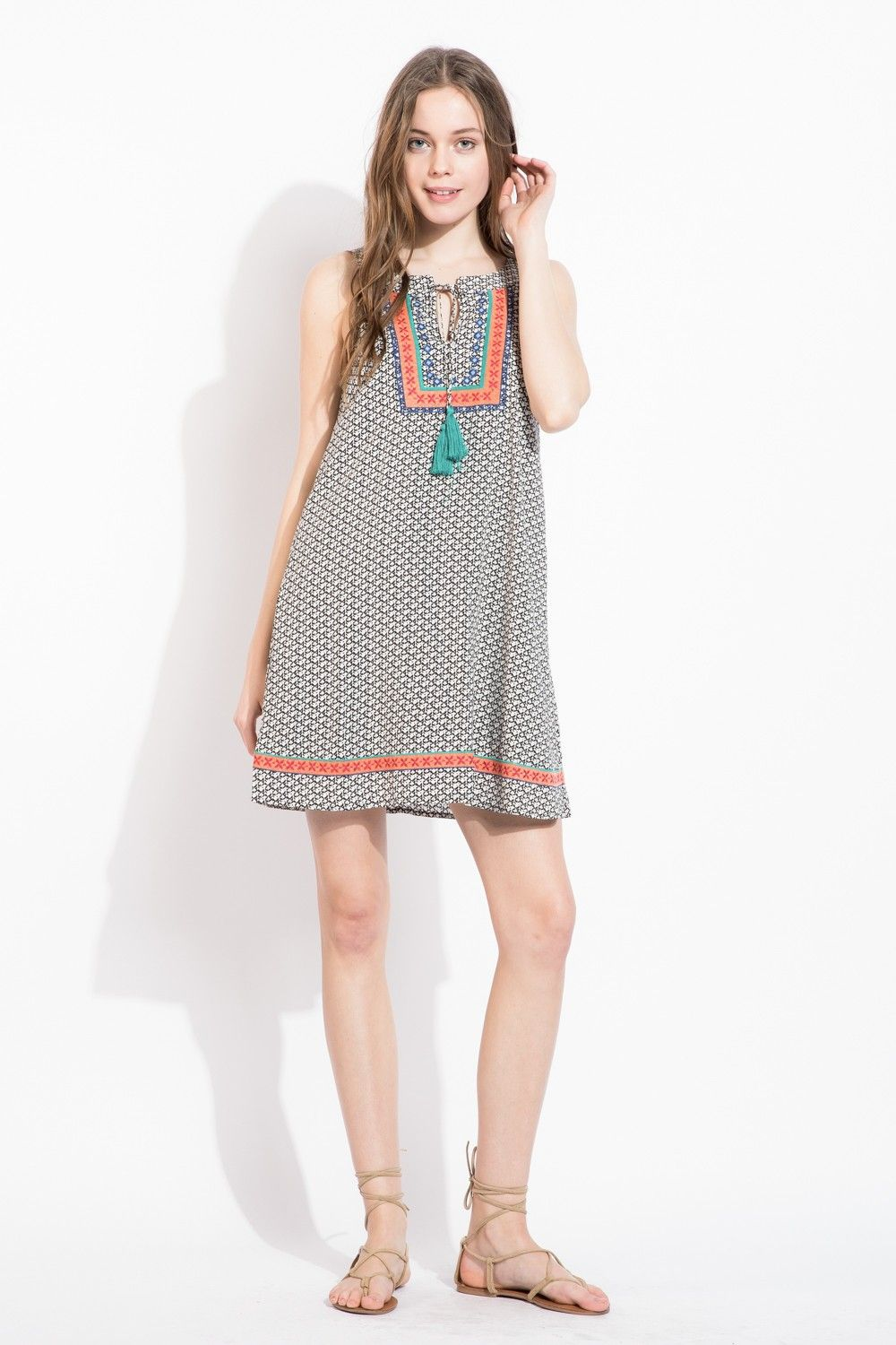 87e574a8c50 Love this bohemian print THML dress featuring a halter neck