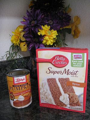 SUPER FAST Pumpkin Cookies - Just a spice cake mix and a small can of pumpkin! YUM!