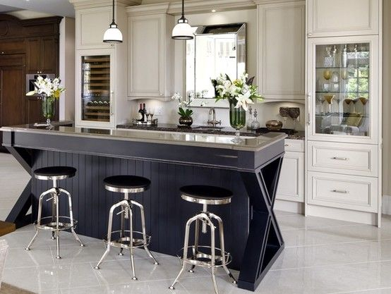 Spectacular bar by Dowsnview with the integrated Sub-Zero's blending in perfectly