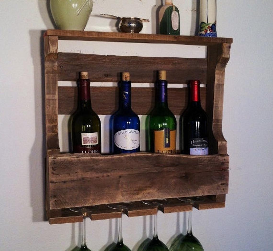 Little traverse wine rack weathered oak distressed stain