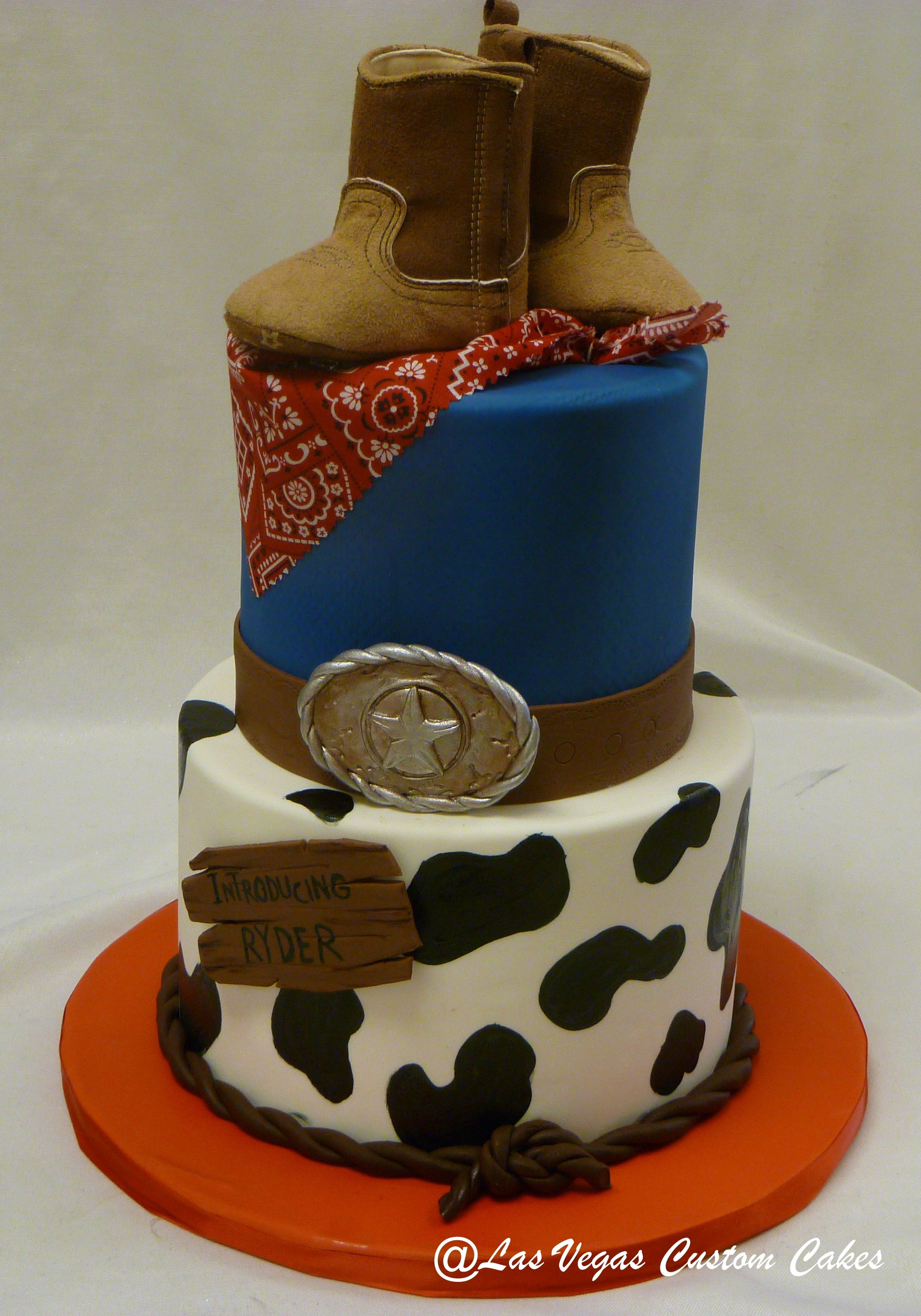 Baby Shower Cowboy Cake Made By Las Vegas Custom Cakes Unique Birthday