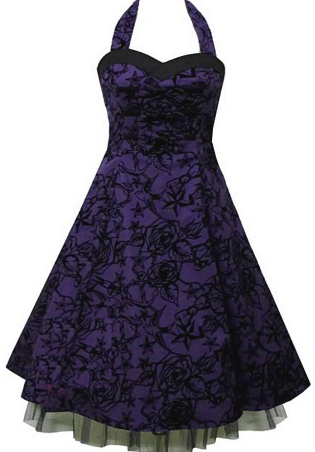 Cocktail Dresses Purple Roses