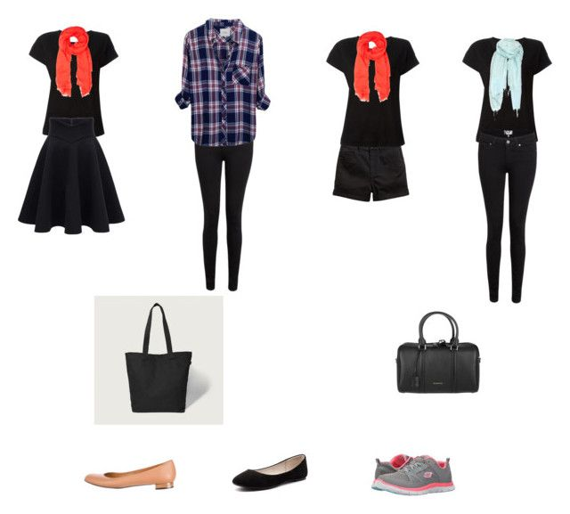 all black by maya-angela-lisal on Polyvore featuring Rails, Forte Forte, Paige Denim, Skechers, Verali, Fendi, Abercrombie & Fitch, Burberry, C.P. Company and Furla
