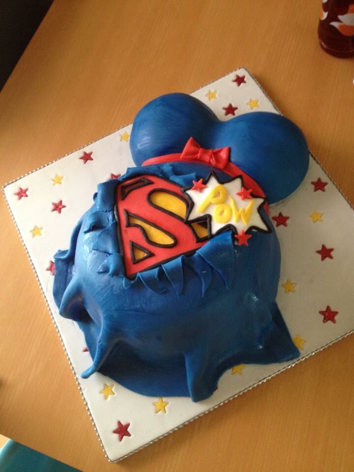 Superhero Baby Shower Cake More