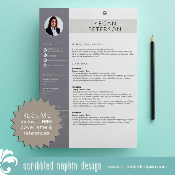 Sales Resume Template - Resume with Free Cover Letter and Second - adobe indesign resume template