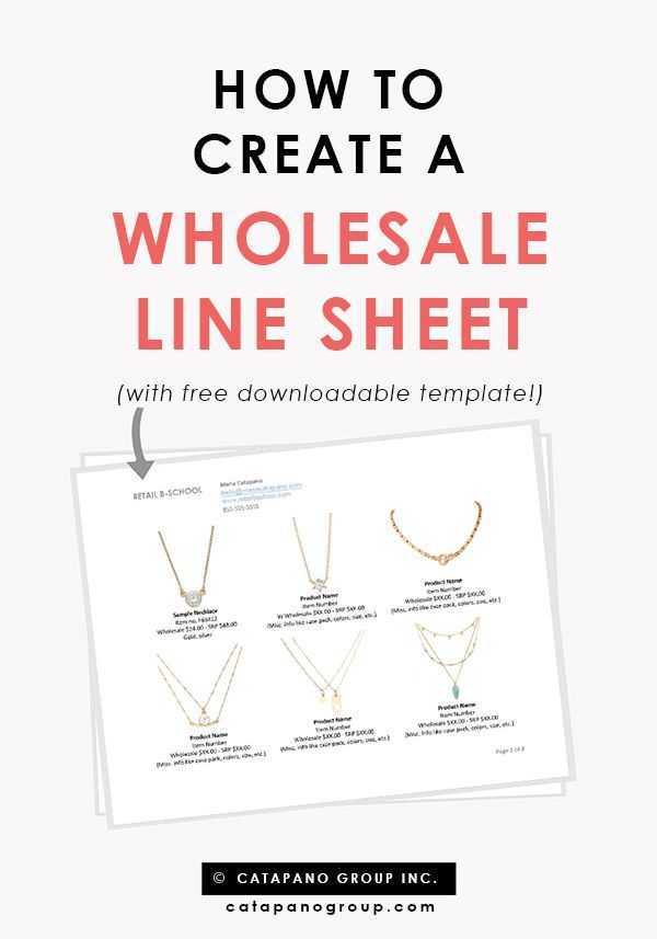 Free line sheet template Line sheet tips How to create a line