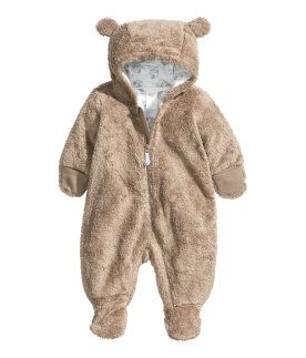 Infant Baby Boys Girls Cartoon Bear Animal Hooded Fleece Jacket Winter Warm Coat