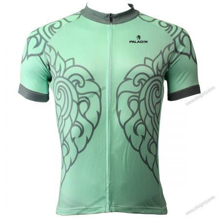 Men Cycling Jersey Bicycle Sportswear Short sleeves Unique Design Green Jerseeys