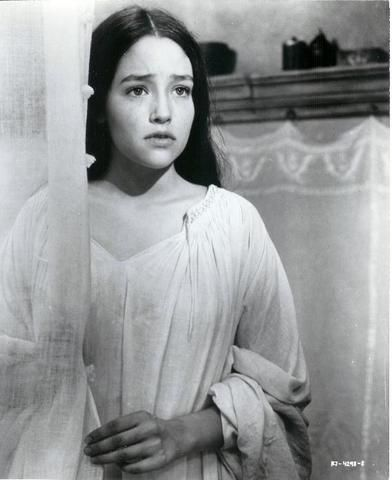 """Olivia Hussey, """"Romeo and Juliet"""", 1968. 
