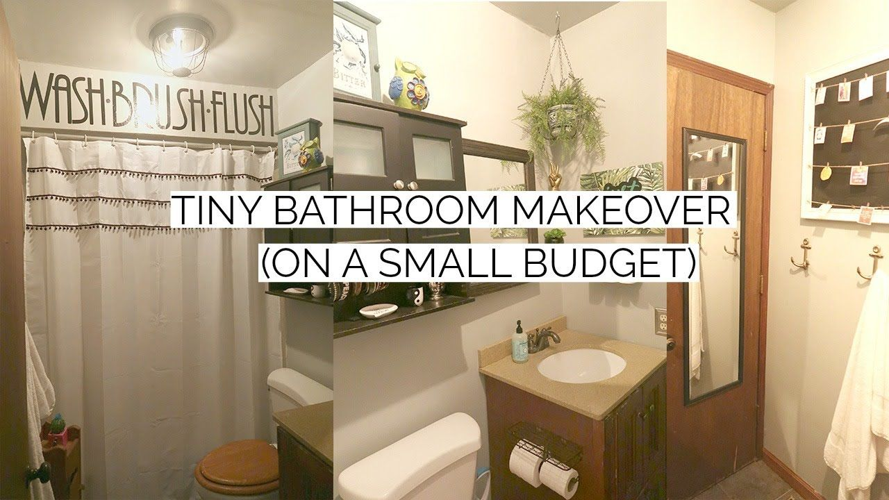 Tiny Bathroom Makeover On A Small Budget Bathroom Makeover On