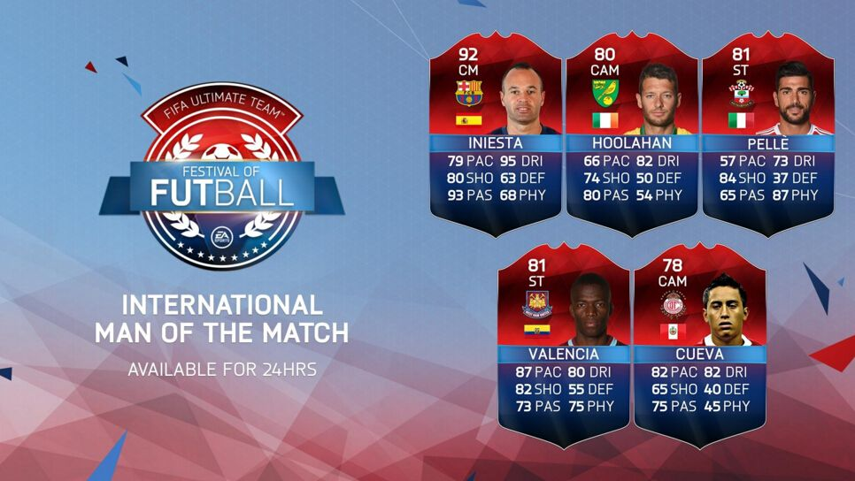 Five new iMOTM items are now live in FUT Available