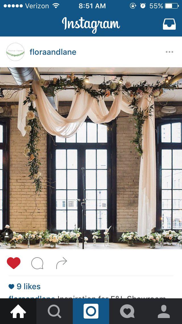 Unconventional wedding backdrop