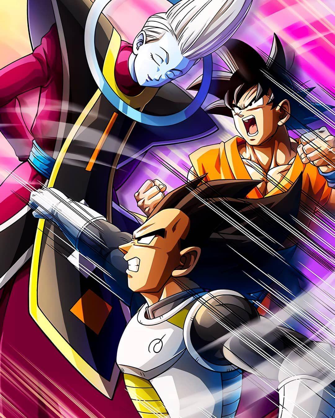 Goku Y Vegeta Entrenadando Con Whis Dbz Dbs Dragonball Fairytale Ssj Tokiogo Dragon Ball Wallpapers Dragon Ball Super Manga Anime Dragon Ball Super