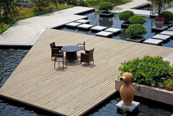 außenarchitektur moderne gartengestaltung wasser merkmale ... - Moderne Gartengestaltung