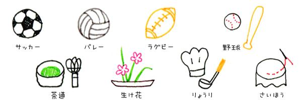 15 アイコンつめあわせ ボールペンで描く プチかわいいイラスト