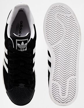 new style a93b8 9b44d Enlarge Adidas Superstar II Toe Cap Black Sneakers