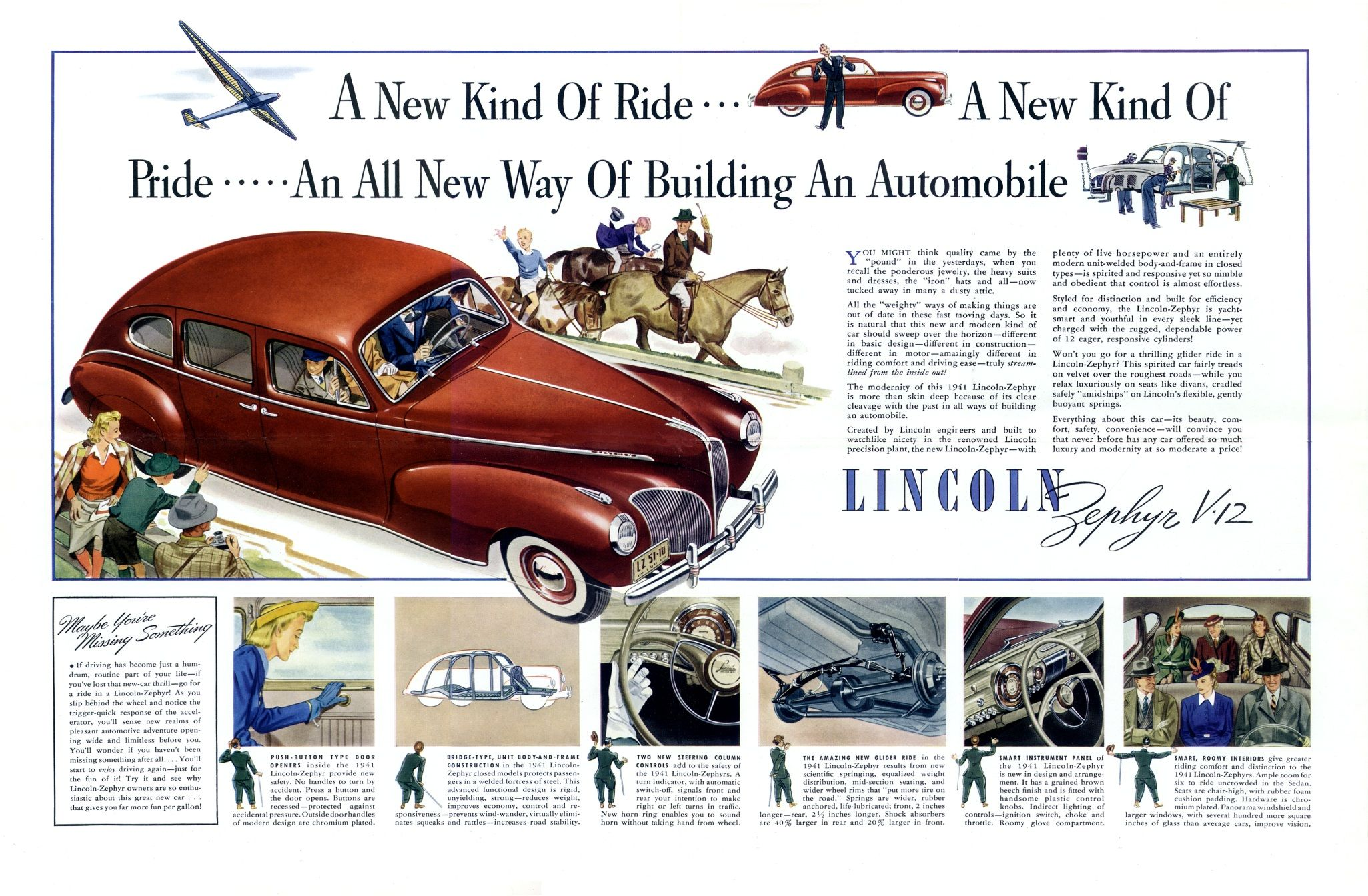 1941 Lincoln Zephyr Ad 01 Lincoln Zephyr Lincoln Lincoln Motor