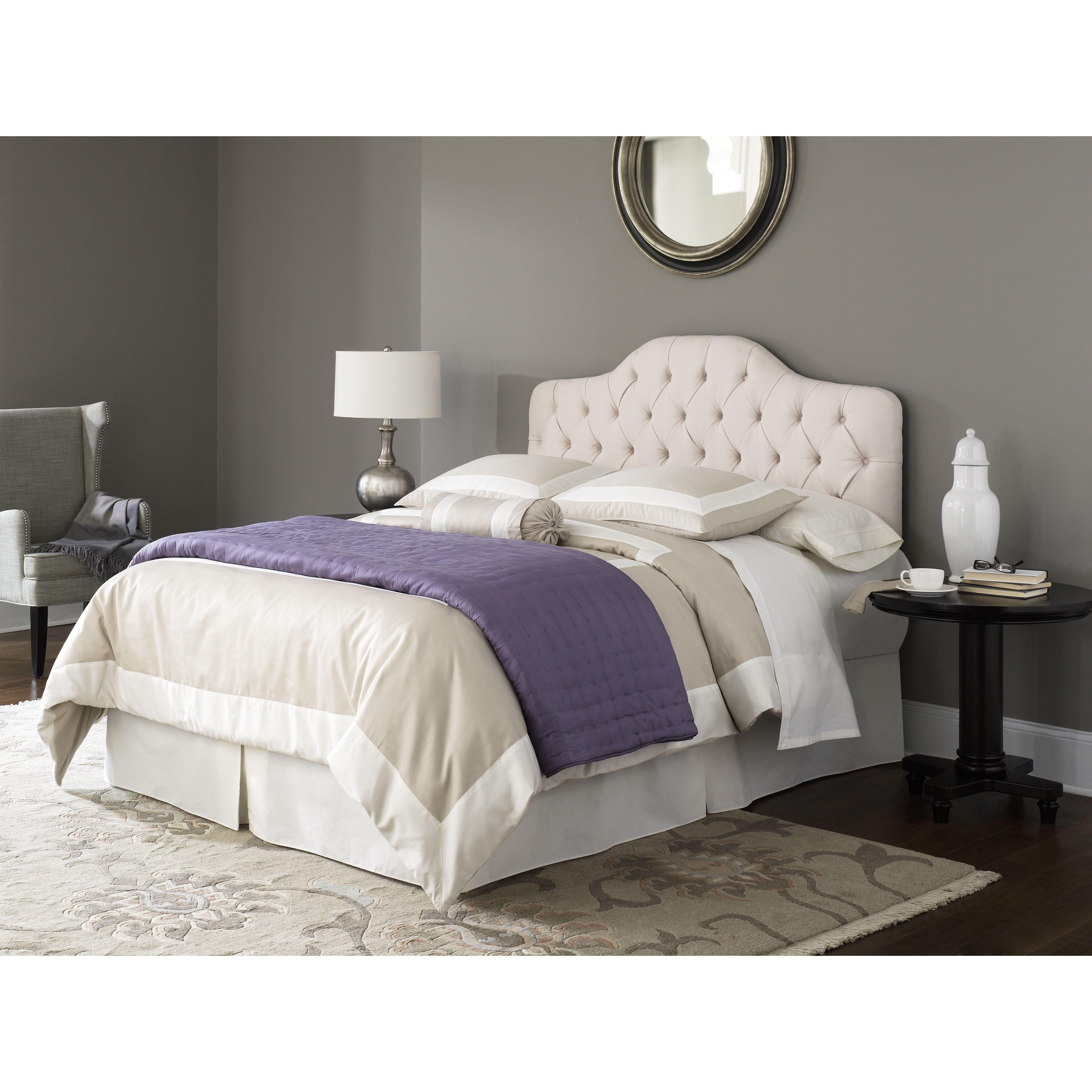Queen bed frame mattress box spring and bedding for sale pre owned ...